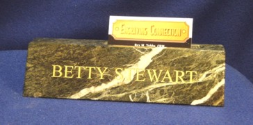 Green Marble Desk Name Plate